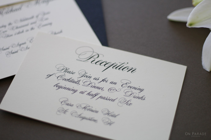 The Jane Suite Reception Card
