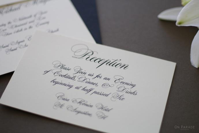 The Jane Suite Reception Card