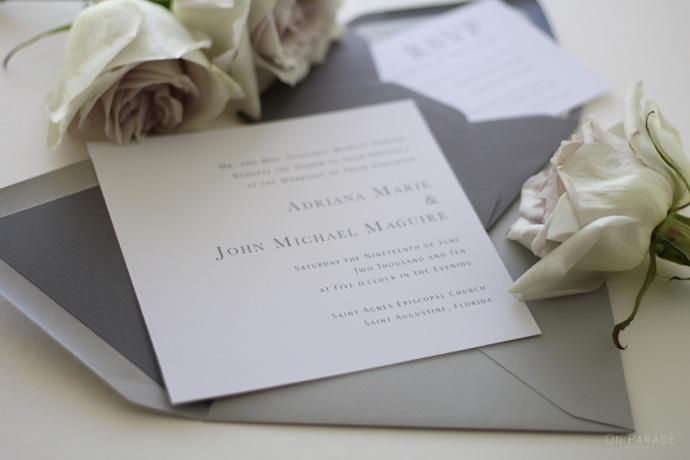 The Bridget Suite Invitation Detail
