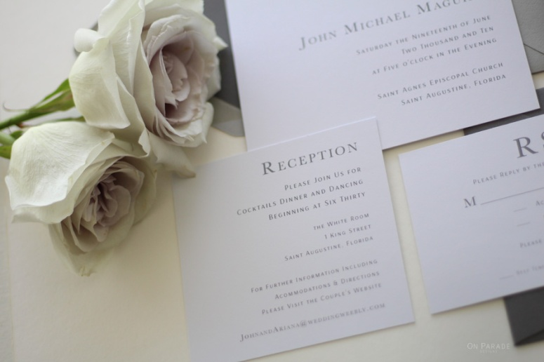 Bridget Suite Reception Card