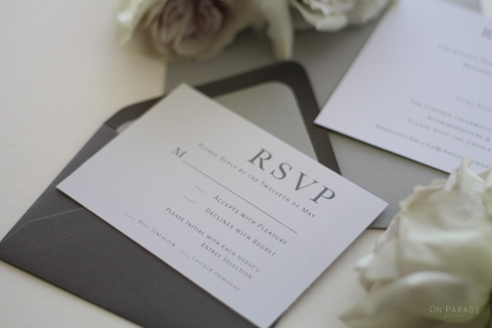 The Bridget Suite RSVP detail