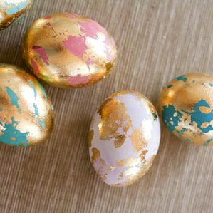 gold leaf eggs