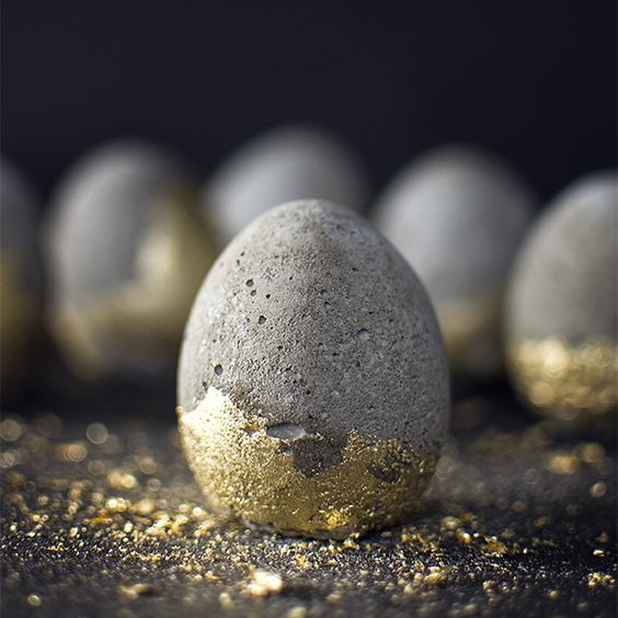 stone and gold eggs