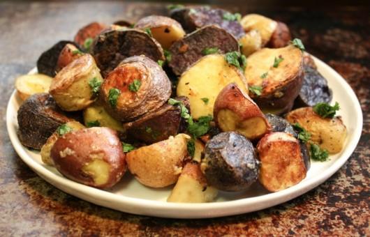 roast rainbow sweet potatoes