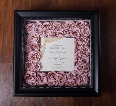 floral invitation frame