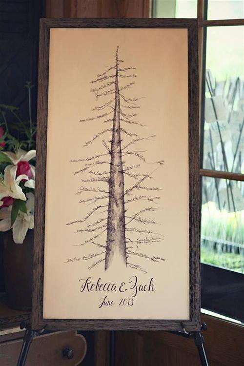 Rustic Tree Guest Book