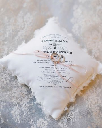 wedding invitation pillow