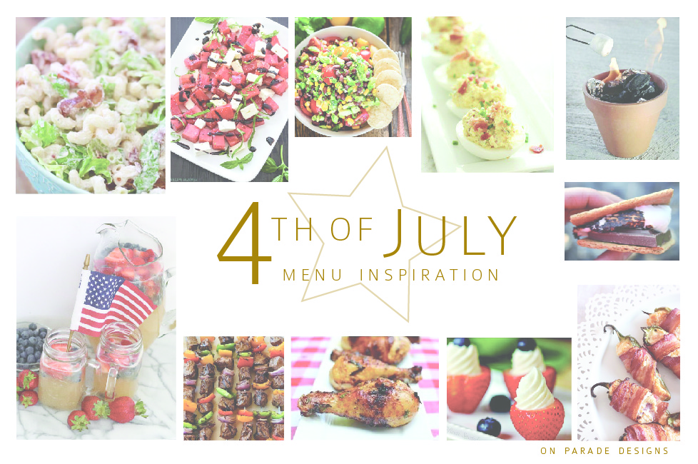 Celebrating the 4th a patriotic menu