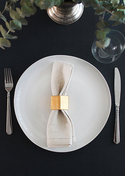 gold napkin ring