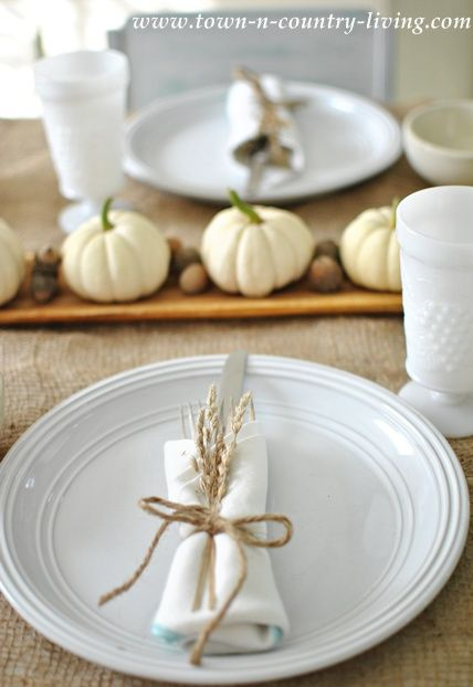 wheat table setting